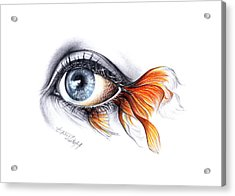 All I See Is A Sea Acrylic Print by E Drawings