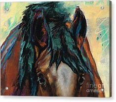 All Knowing Acrylic Print by Frances Marino