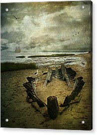 All That Remains Acrylic Print by Lianne Schneider