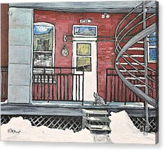 Alley Cat In Verdun Acrylic Print by Reb Frost