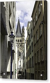 Alley In Cologne Germany Acrylic Print by Teresa Mucha