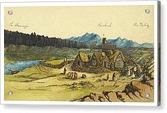 Almanna Gorge Circa 1862 Acrylic Print by Aged Pixel
