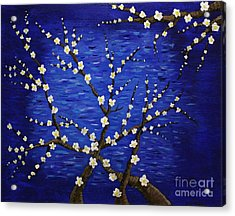 Almond Branches In Bloom Acrylic Print by Vicki Maheu