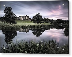 Alnwick Castle Sunset Acrylic Print by Dave Bowman