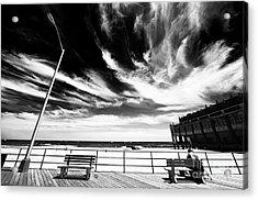 Alone In Asbury Park Acrylic Print by John Rizzuto