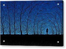 Alone In The Forrest Acrylic Print by Gianfranco Weiss