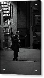 Alone In The Streets Acrylic Print by Karol Livote