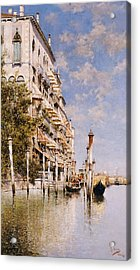 Along The Grand Canal Acrylic Print by Rafael Senet