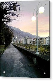 Along The Stream Morning First Light Acrylic Print by Giuseppe Epifani