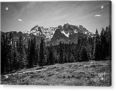 Alpspitze Till Zugspitze II Acrylic Print by Hannes Cmarits