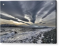 Altocumulous Standing Lenticular Clouds Acrylic Print by Darryl Luscombe