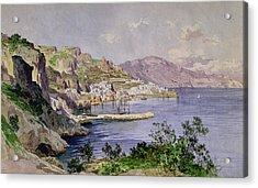 Amalfi Acrylic Print by Ludwig Hans Fischer
