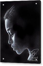 Amandla Stenberg Acrylic Print by Rosalinda Markle