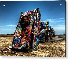 Amarillo - Cadillac Ranch 004 Acrylic Print by Lance Vaughn