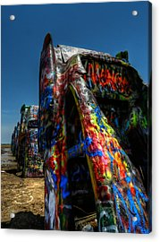 Amarillo -  Cadillac Ranch 006 Acrylic Print by Lance Vaughn