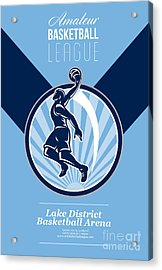 Amateur Basketball League Retro Poster Acrylic Print by Aloysius Patrimonio