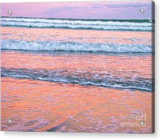 Amazing Pink Sunset Acrylic Print by Michele Penner