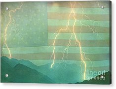 America Walk The Line  Acrylic Print by James BO  Insogna