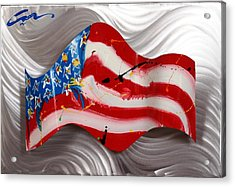 America Wave Acrylic Print by Mac Worthington