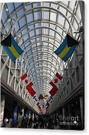 America Welcomes You. Chicago O Hare International Airport. Acrylic Print by Ausra Huntington nee Paulauskaite