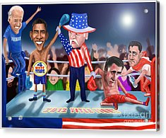 America Wins Acrylic Print by Fred Makubuya