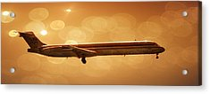 American Airlines Md80  Acrylic Print by Aaron Berg