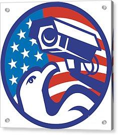 American Bald Eagle Security Camera Acrylic Print by Aloysius Patrimonio