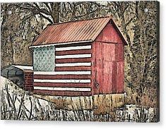 American Barn Acrylic Print by Trish Tritz