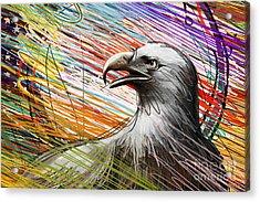 American Eagle Acrylic Print by Bedros Awak
