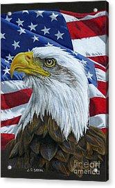American Eagle Acrylic Print by Sarah Batalka