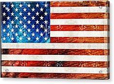 American Flag Art - Old Glory - By Sharon Cummings Acrylic Print by Sharon Cummings
