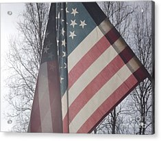 American Flag Acrylic Print by Jennifer Kimberly