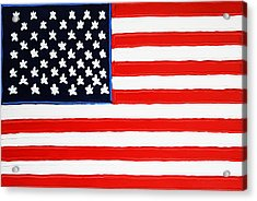 American Flag Acrylic Print by Matthew Brzostoski