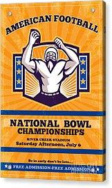 American Football National Bowl Poster Art Acrylic Print by Aloysius Patrimonio