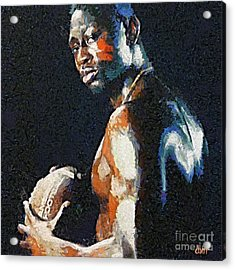 American Football Player Acrylic Print by Dragica  Micki Fortuna