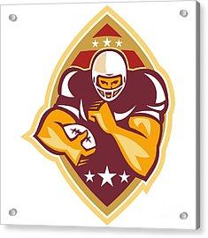 American Football Running Back Star Ball Acrylic Print by Aloysius Patrimonio