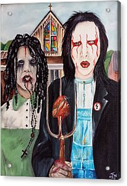 American Goth Acrylic Print by S G Williams