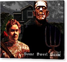 American Gothic Resurrection Home Sweet Home 20130715 Acrylic Print by Wingsdomain Art and Photography