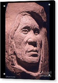 American-indian-portrait-1 Acrylic Print by Gordon Punt