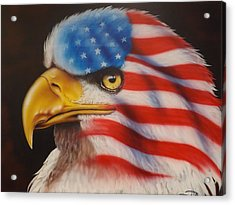 American Pride Acrylic Print by Darren Robinson