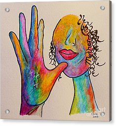 American Sign Language . . .  Mother Acrylic Print by Eloise Schneider