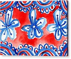 Americana Celebration 2 Acrylic Print by Linda Woods