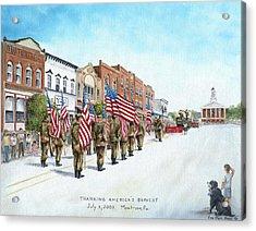 America's Brave Acrylic Print by Carol Angela Brown