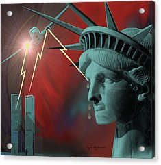 Americas Deepest  Wound  - 100 Acrylic Print by Irmgard Schoendorf Welch