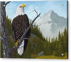 America's Pride Acrylic Print by Rick Bainbridge