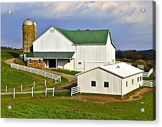 Amish Country Barn Acrylic Print by Frozen in Time Fine Art Photography