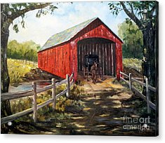 Amish Country Acrylic Print by Lee Piper