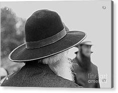 Amish Faces Acrylic Print by Mary Carol Story