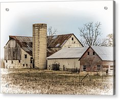 Amish Farm In Etheridge Tennessee Usa Acrylic Print by Kathy Clark