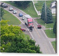 Amish Traffic Jam Acrylic Print by Dan Sproul